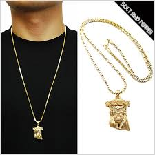 gold necklace hip hop images Solt and pepper rakuten global market for no brand micro jeasus jpg