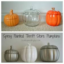 ceramic pumpkins fall décor spray paint thrift store ceramic pumpkins healthy