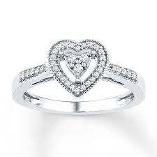 kay jewelers open heart kayoutlet heart promise ring 1 5 ct tw diamonds sterling silver