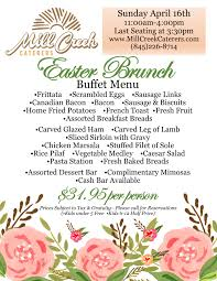 Easter Brunch Buffet Menu by Easter Brunch And Sunday Dinner