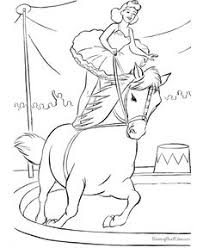 circus animal coloring pages printable performing trained circus