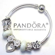 pandora bangle bracelet with charm images Pandora bracelets collection on ebay jpg