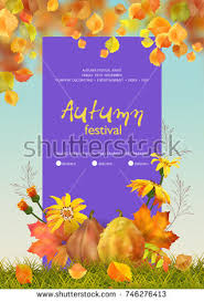 thanksgiving invitation card flyer template lettering stock vector