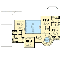 floor plan stairs spiral stair elegance 62493dj architectural designs house plans