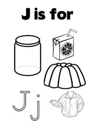 different words for j alphabet coloring page kindergarten