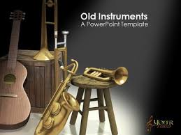old instruments a powerpoint template from presentermedia com