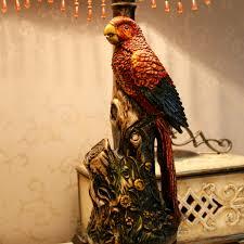 Schlafzimmer Tischlampe Retro Papagei Schlafzimmer Tischlampe Stoff Lampenschirm