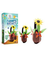 jumboo 3d diy art and craft set for kids flower bucket buy