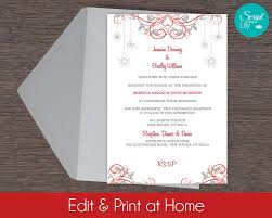 snowflake invitation template free color change diy edit