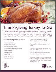 the bistro now offering thanksgiving turkey to go my gallaudet