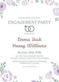 party invitation floral engagement party invitation template template fotojet