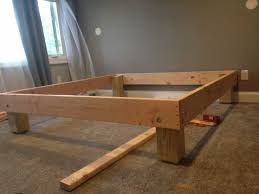 King Size Bed Frame Diy King Sized Deck Diy Bed Frame With Foundation For 100 The