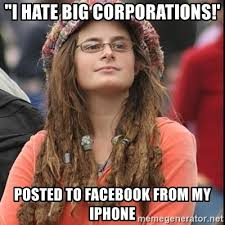 Iphone Meme Generator - i hate big corporations posted to facebook from my iphone