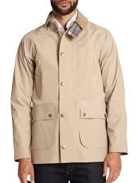 barbour bankside waterproof jacket in natural for men lyst