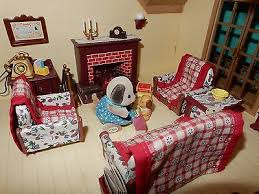 Calico Critters Living Room by Sylvanian Rare Collection On Ebay