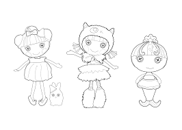 lalaloopsy coloring sheet for kids printable free imprimibles