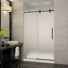 perfect frosted sliding shower doors nautis 50 in x 72 completely