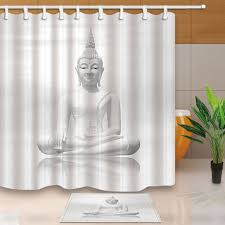 online get cheap shower curtains sets aliexpress com alibaba group buddha statue bed bath shower curtain sets waterproof fabric with 12 hooks wts032 china