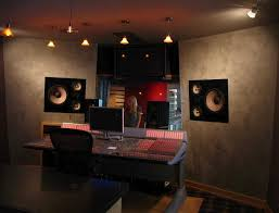 decorations cool studio interior with excllent wall accent and