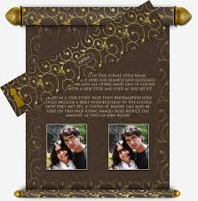 scroll invitations diy scroll style email wedding invitation 7 email wedding invitation