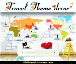 world travel decor theme bedroom decorating ideas around the