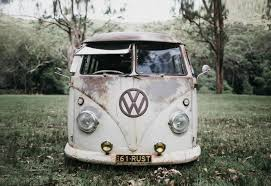 old rusty volkswagen rusty kombi hire wedding car service