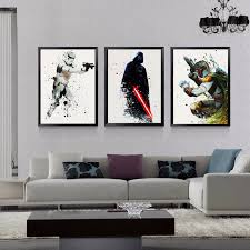 star wars living room star wars canvas wall art movie poster canvas painting pop