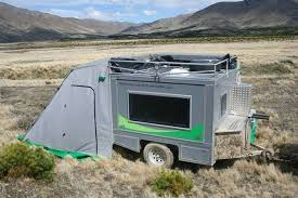 Teardrop Camper With Bathroom Ecombo Is A Rust Proof Solar Powered Take On The Teardrop Trailer