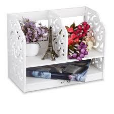 Desk Top Organizer by Healthy 2 Tier Wood Plastic Bookshelf Composite Unit Desktop