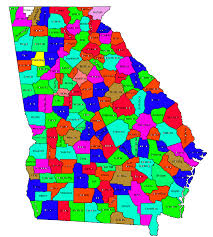State Of Ga Map by Index