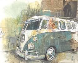 volkswagen bus painting the fine art of jesse pierpoint spokane wa