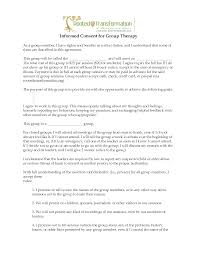 consent group therapy consent form