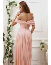 off the shoulder chiffon slid coral prom dresses 2012 buy off