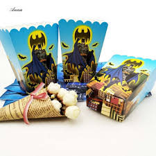 batman party supplies 6pcs lot batman party supplies popcorn box gift box favor accessory