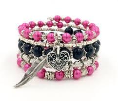 black bracelet pink images 1845 best trendy memory wire bracelets images jpg