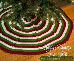 happy holidays tree skirt moogly