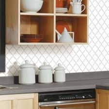 peel and stick backsplashes for kitchens pearl hexagon sticktiles peel stick backsplashes roommate