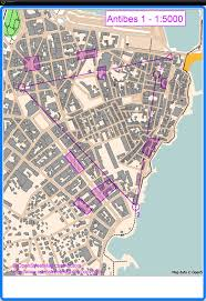 Antibes France Map by Antibes Funrun 1 3 March 17th 2013 Orienteering Map From Lotta