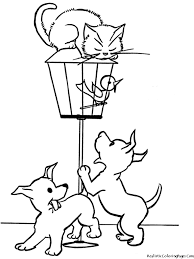 cat and dog coloring pages u2013 barriee