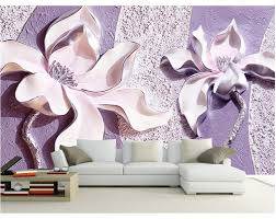 Magnolia Wallpaper Aliexpress Com Buy Custom Any Size Mural Wallpaper 3d Relief