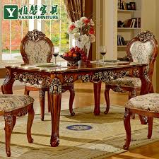Carved Dining Table And Chairs Xin Ya European Antique Wood Dining Table And Chairs Combination