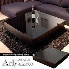 Square Living Room Tables Auc Gekiyasu Rakuten Global Market Black Gallus Living Table