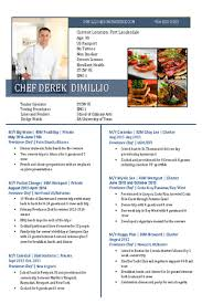 Sample Resume For Chef by Chef Resumes Cv Samples U2014 Super Yacht Resume