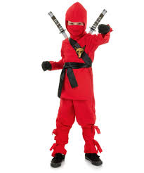 ninja kids halloween costume red boys asian warrior costume