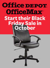 office depot office max start their black friday sale in october