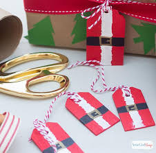 santa belt ribbon decoart crafts painted wooden santa belt gift tags