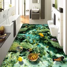 Unique Bathroom Floor Ideas Creative Underwater Bathroom Floor Theme Ideas Orchidlagoon