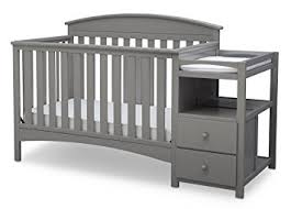 Grey Convertible Cribs Delta Children Abby Convertible Crib N Changer