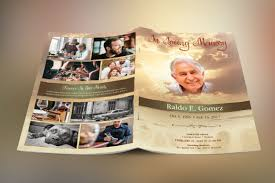 beautiful funeral programs forever funeral program template on behance