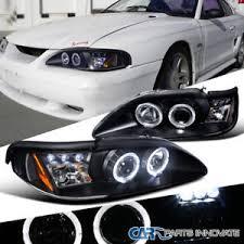 ebay mustang headlights ford 94 98 mustang cobra gt led halo projector headlights l